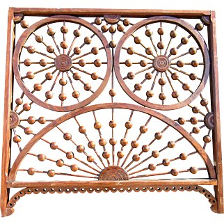 Great Victorian Stick and Ball Fretwork Panel