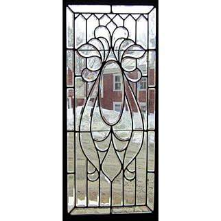 Large Victorian Beveled Glass Window