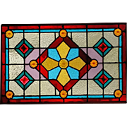 Great Antique Stained and Jeweled Window