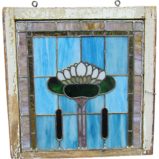 Arts and Crafts style Lily Pad Window