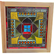 Small size Stained Jeweled Window