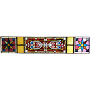 Great Stained Beveled glass transom window