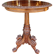 Mahogany Horner style Griffin Stand