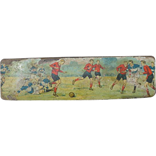 French vintage wooden pencil box