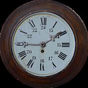 Vintage toleware wall clock, 1930's