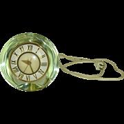 Modernist Silver Mercury Glass Electric Clock by Telechron circa 1950s
