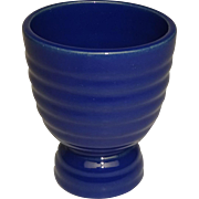 Vintage Bauer Pottery Los Angeles Egg Cup Royal Blue