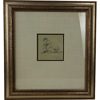 Edward Borein Horse Pencil Drawing Signed Dated 1903