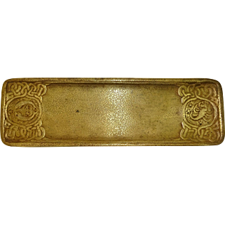 Tiffany Studios Zodiac Gilt Pen Tray