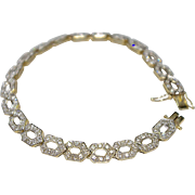 A Breathtaking Vintage Diamond Bracelet Made in an Art Deco Style