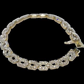 A Breathtaking Vintage Diamond Bracelet Made in an Art Deco Style
