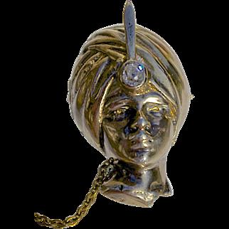 A Vintage 14KT Gold Blackamoor Brooch Pin