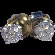 A Vintage Set of Diamond Stud Earrings