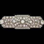 Art Deco Diamond and Platinum Brooch