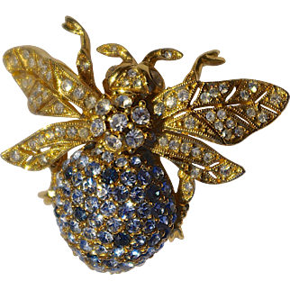 A Vintage Signed CINER 100th Anniversary Commemorative Large Bee Brooch Pin