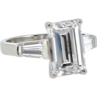 An Exceptional Vintage 3.19 Carat Diamond Ring