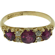 English Antique Ruby and Diamond Ring