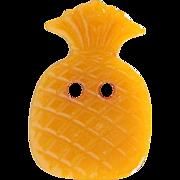 "Vintage Bakelite Realistic ""Goofie"" Yellow Pineapple Button"