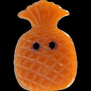 "Vintage Bakelite Realistic ""Goofie"" Orange Pineapple Button"