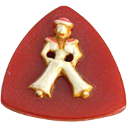 Vintage Realistic Sailor on Red Triangle Bakelite Button