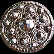 18th Century Georgian Pierced Cut Steel  Button