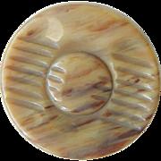 Large Vintage Casein Button Imitating Horn