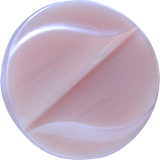 Vintage Pink Art Deco Satin Glass Button