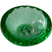 Vintage Green Depression Glass Button