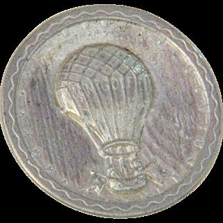 Vintage Steiff Pewter Balloon Button