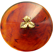 Very Large Vintage Imitation Tortoise Shell Button