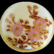 Small Vintage Floral Satsuma Button