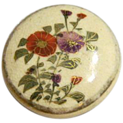 Vintage Satsuma Flower Button