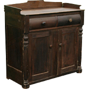 Mid to late 1800's softwood jelly cupboard or pie safe cabinet