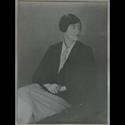 Original 1920's black and white portrait photograph by famous Berenice Abbott