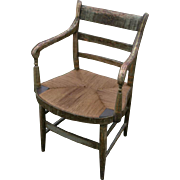 Important late 1700's or early 1800's Philadelphia PA history chair with owner's name