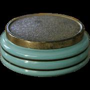 Rare vintage Danish Mid Century Modern pottery or porcelain dresser or vanity box