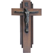 Vintage European made Art Deco period Jesus Christ on the cross