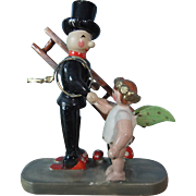 Vintage Erzgebirge Lucky Chimney Sweep Decoration For New Year