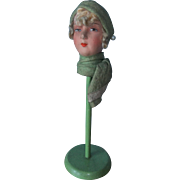 Fabulous 1920s Flapper Doll-Head Hat Stand