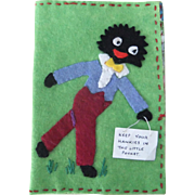 Vintage Applique Felt Golly Handkerchief Sachet