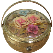 Gorgeous KIGU Lucite 'Bouquet' Flower Basket Compact