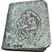 Antique Miniature Silver Mounted Prayer Book