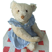 Edwina, A Superb Vintage White Steiff Teddy Bear, 19 Inches, With Exceptional Provenance