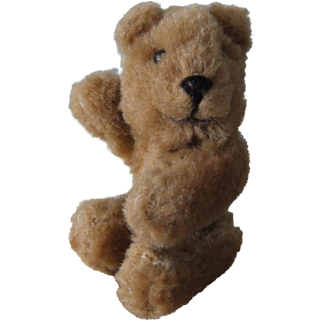 Vintage Miniature Teddy Bear, Pin Jointed Limbs and Swivel Head