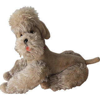 Large Vintage Steiff Snobby Poodle, Jointed with Swivel Head