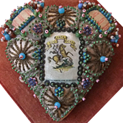 World War 1 Heart-shaped Sweetheart Pin Cushion