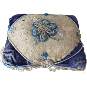Georgian Beadwork Pin Cushion with Central Flower