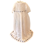 Enchanting Antique Dolls' Dress with White-work Embroidery