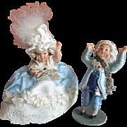 Vintage Miniature Dolls in 18th Century Style Costume