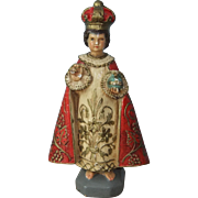 Small Vintage Infant Jesus of Prague Statuette